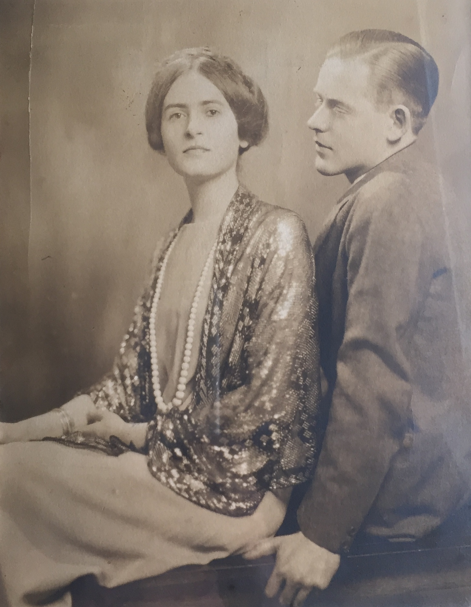Ken and Elsie Oliver c. 1925 engagement photo