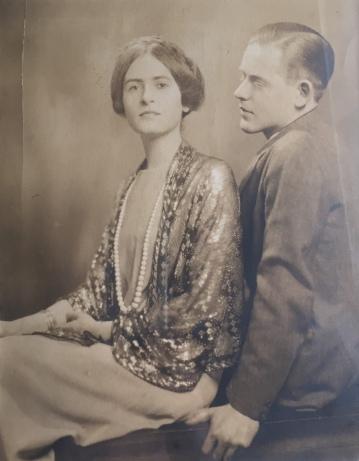 Ken and Elsie Oliver c. 1925 engagement photo